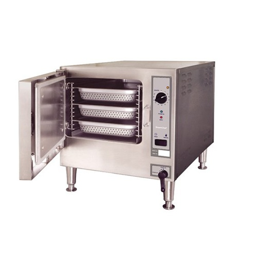 SteamChef® 3 Pan Electric Countertop Convection Steamer 22CET3.1 on stand